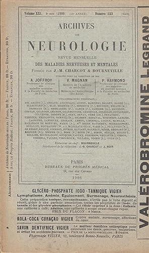 Archives de Neurologie revue mensuelle des maladies: A. Barbé -