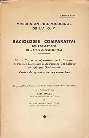 Mission anthropologique de L'A. O. F. : Léon Pales, Marie