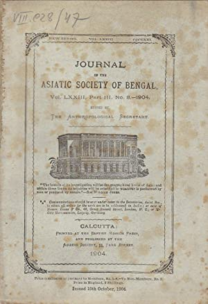 Totemism among the Khonds. in Journal of the Asiatic Society of Bengal. Vol. LXXIII, Part III. N&...