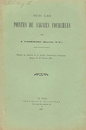 Sur les pointes de sagaies fourchues (COPY SIGNED TO SAINT-PERIER)