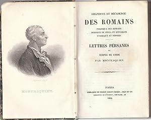 Grandeur et décadence des Romains : Politique: Montesquieu