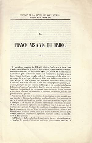 La France vis-à-vis du Maroc [COPY SIGNED]