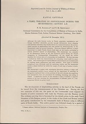 Kappal Sattiram : A Tamil Treatise of Shipbuilding during the Seventeenth Century: N. K. Panikkar &...