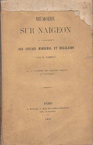 Mémoire sur Naigeon et accessoirement sur Sylvain: Damiron, Jean-Philibert