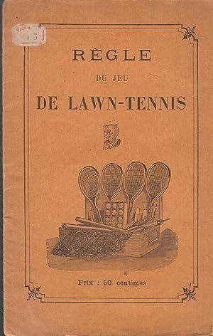 Règle du jeu de lawn tennis