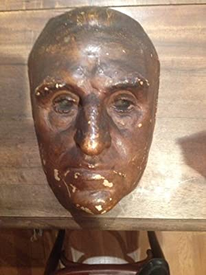 Masque mortuaire en plâtre à patine: J.-M. Charcot