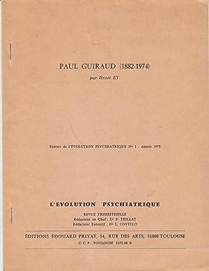 Paul Guiraud (1882-1974): Henri Ey