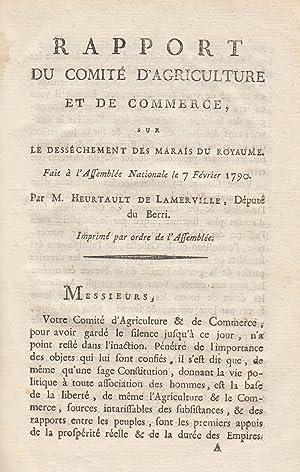 Rapport du Comité d'agriculture et de commerce,: Jean-Louis-Thomas Heurtault Lamerville,