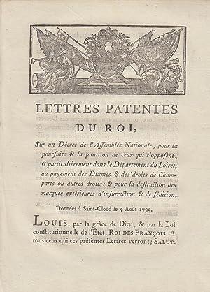 Lettres patentes du roi, sur un décret: Louis, King of