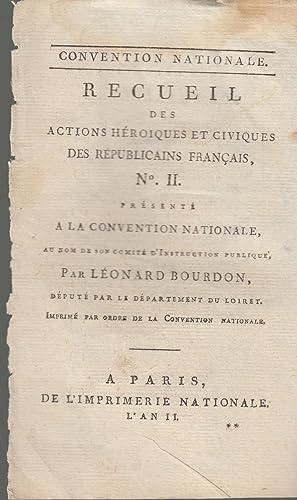 Convention Nationale - Recueil des actions héroiques: Léonard Bourdon