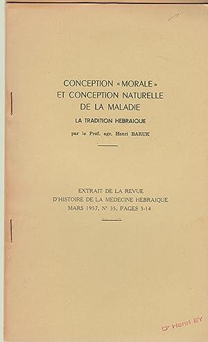 """Conception """"Morale"""" et conception naturelle de la: Henri BARUK"""