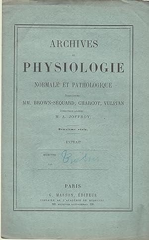 Archives de physiologie normale et pathologique : E. TROISIER