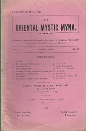The Oriental Mystic Myna - Contents : Vedachalam, Srinivasan, Schwabe,