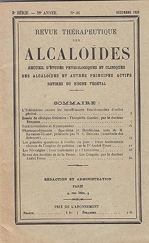 Revue thérapeutique des alcaloïdes : recueil pratique