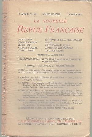 La Nouvelle Revue Française - 9e année,: Julien Benda, Camille