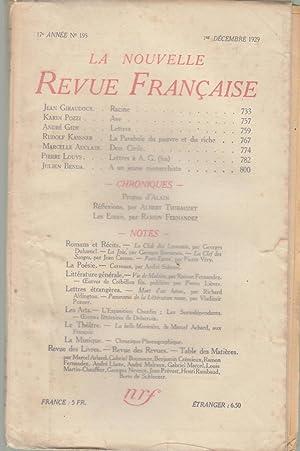 La Nouvelle Revue Française - 17e année: Jean GIRAUDOUX, Karin