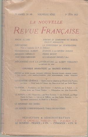 La Nouvelle Revue Française - 9e année: Roger Allard, Dostoievski,