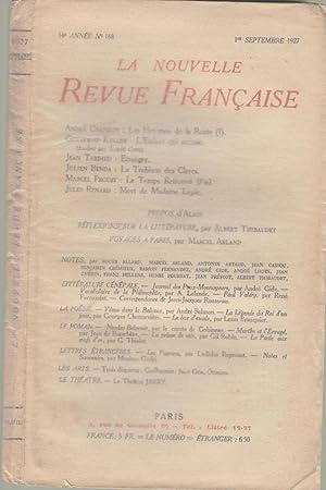 La Nouvelle Revue Française - 14e année: André Chamson, Gottfried