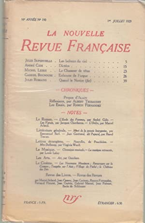 La Nouvelle Revue Française - 16e année: Jules Supervielle, André