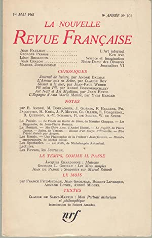 La Nouvelle Revue Française - 1er Mai: Jean Paulhan, Georges