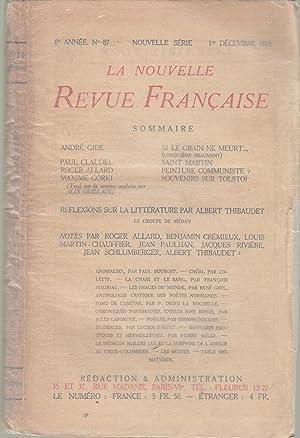 La Nouvelle Revue Française - 8e année: André Gide, Paul