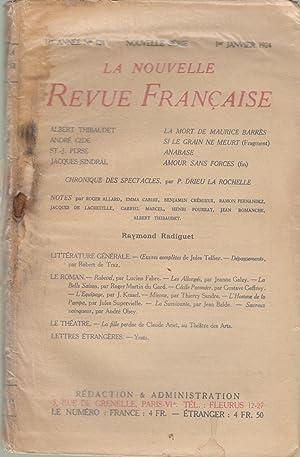 La Nouvelle Revue Française - 11e année: Albert Thibaudet, André