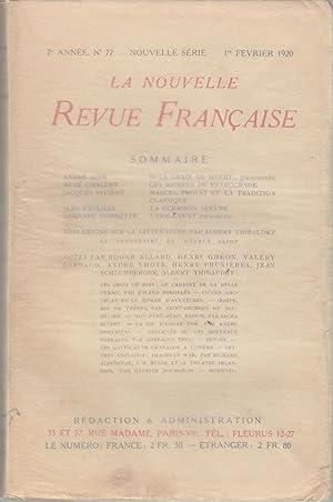 La Nouvelle Revue Française - 7e année: André Gide, René