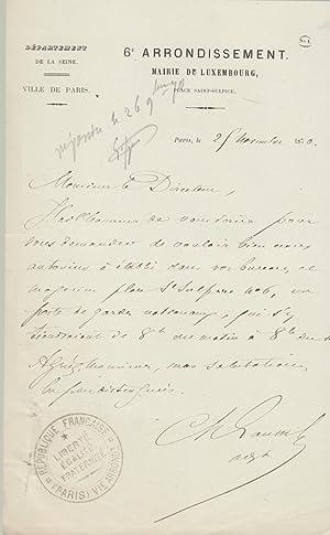 Deux lettres autographes de Georges Clémenceau de: Georges Clémenceau