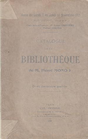Catalogue de la bibliothèque de M. Henri: Henri Monod