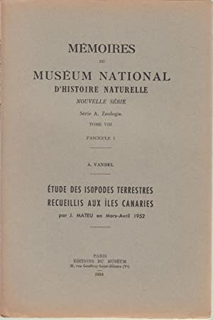 Mémoires du Muséum National d'Histoire Naturelle -: A. VANDEL