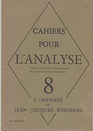Cahiers pour l'analyse. Travaux du Cercle d'épistémologie: Louis Althusser, Alain
