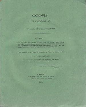 Concours pour l'agrégation de Médecine: Comparer les: A. Bouchardat