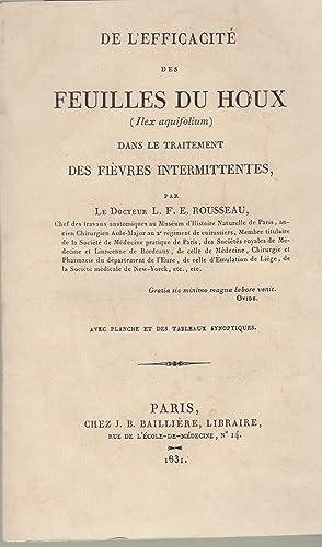 De l'efficacite des feuilles du houx (Ilex: Rousseau, Louis Francois