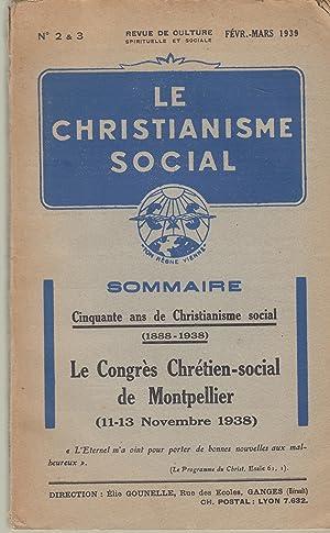 Le Christianisme social n°2-3, Fév.-mars 1939: Cinquante