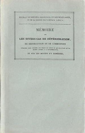 Mémoire sur les divers cas de détérioration,: V. de Moléon