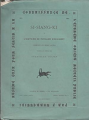 Si-Siang-ki, ou l'histoire du pavillon d'Occident: JULIEN (Stanislas) (traduit