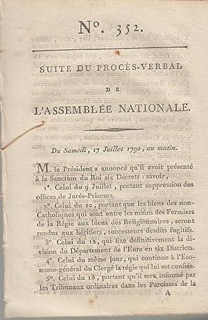 Suite du procès -Verbal de L'Assemblée Nationale.: Signé C.F. De
