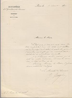 Lettre autographe signée du Ministre du Commerce: Georges Clémenceau]