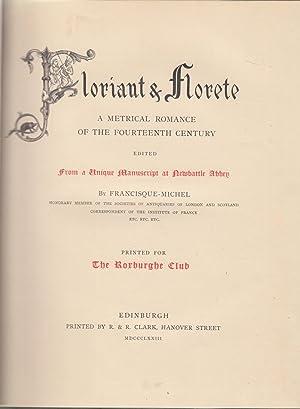 Floriant & Florete, a metrical romance of: Francisque Michel -