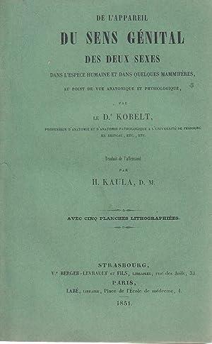 De l'appareil du sens génital des deux: Kobelt, Dr