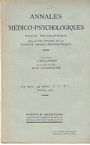 Annales Médico-Psychologique - Revue Psychiatrique - Bulletin: P. Janet, I.-G.