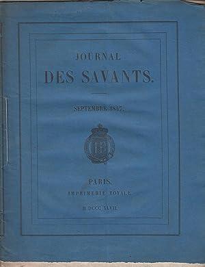Journal des savants septembre 1847