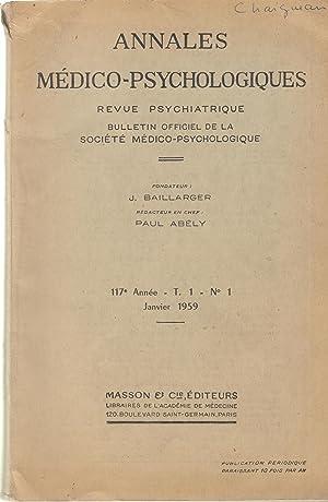 Annales Médico-Psychologiques - Revue Psychiatrique - Bulletin: Jakab, Alves Garcia,
