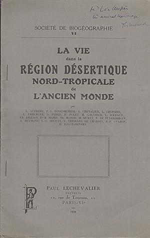 Société de Biogéographie VI - La vie: L. Aufrère, F.-S.
