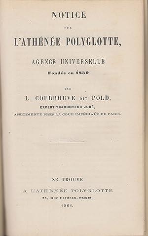 Notice sur l'Athénée polyglotte, agence universelle fondé: L Courrouve, appelé