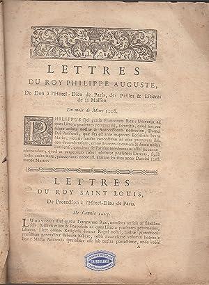 Lettres patentes arrest reglemens et autres titres
