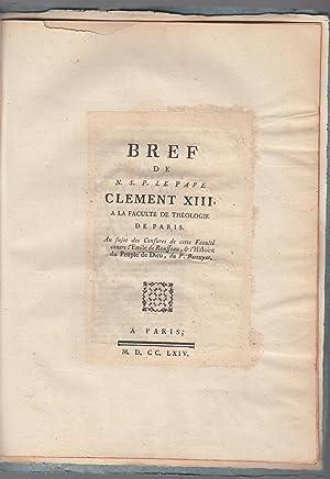 Bref de N.S.P. le Pape Clement XIII: L'église romaine attaque