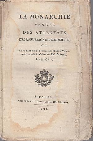 La monarchie vengée des attentats des républicains: Joseph-Antoine-Joachim Cérutti