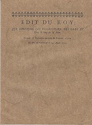 Arrest du conseil d'estat du Roy .: Droit du littoral