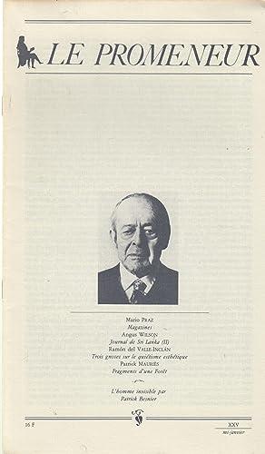 Le Promeneur - XXV - mi-janvier 1984: Mario Praz, Angus